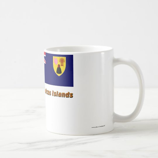Turks & Caicos Islands Flag with Name Coffee Mug