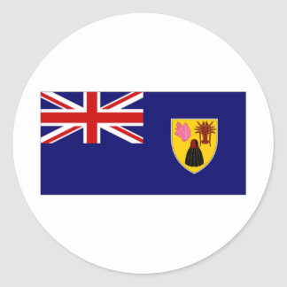 Turks Caicos Islands National Flag Round Stickers