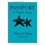 Turks & Caicos Passport Wedding Invitation Card