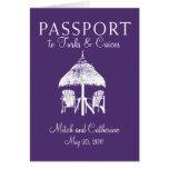 Turks & Caicos Passport Wedding Invitation Stationery Note Card