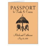 Turks & Caicos Passport Wedding Invitation Cards