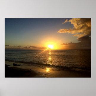 Turks & Caicos Sunset Poster Print
