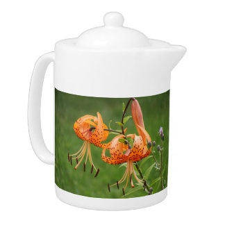 Turk's Cap Lily Teapot