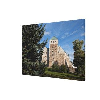 Turku, Finland, ancient Turun Linna Castle, a Canvas Print