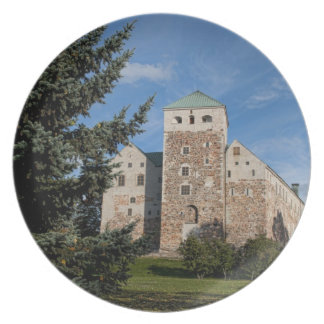 Turku, Finland, ancient Turun Linna Castle, a Dinner Plates