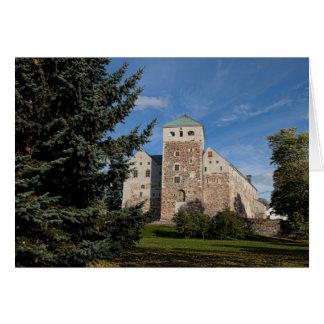 Turku, Finland, ancient Turun Linna Castle, a Greeting Card