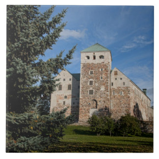 Turku, Finland, ancient Turun Linna Castle, a Large Square Tile