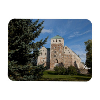 Turku, Finland, ancient Turun Linna Castle, a Rectangular Photo Magnet