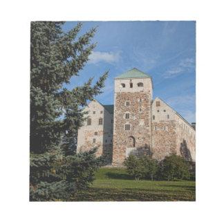 Turku, Finland, ancient Turun Linna Castle, a Scratch Pad