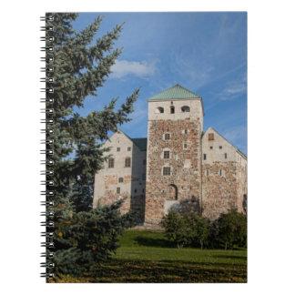 Turku, Finland, ancient Turun Linna Castle, a Spiral Notebooks