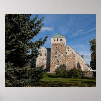 Turku, Finlandia, castillo antiguo de Turun Linna, Póster