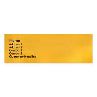 Turmeric Golden Yellow Mini Business Card