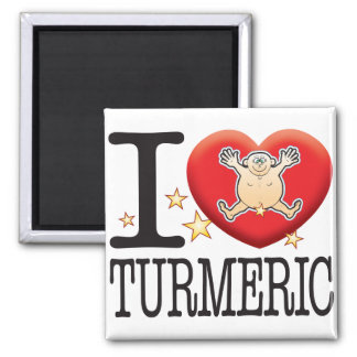 Turmeric Love Man 2 Inch Square Magnet