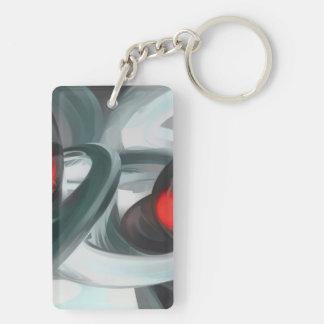 Turmoil Pastel Abstract Keychain