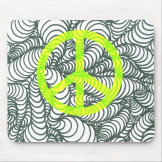 Turmoil Twists and Turns Peace Sign Mouse Pad