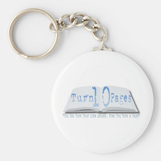 Turn 10 Pages Key Chain