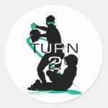 Turn 2 classic round sticker