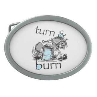 Turn and Burn Barrel Racing Belt Buckle