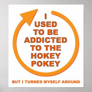 Turn Around Hokey Pokey Funny Poster