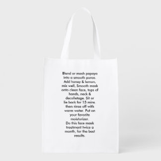 Turn back the hands of times Reusable bags Reusable Grocery Bag