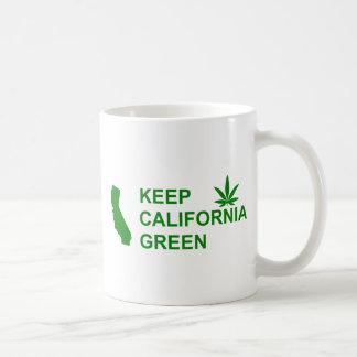 Turn California Green With Pot Leaf Coffee Mug