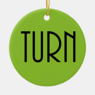 Turn clothing ceramic ornament