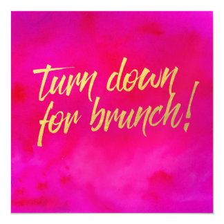 Turn Down for Brunch Invitation Pearl Shimmer