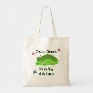 Turn Green Tote Bag