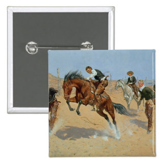 Turn Him Loose, Bill, c.1893 (oil on canvas) 2 Inch Square Button