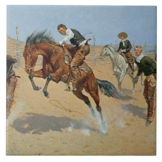 Turn Him Loose, Bill, c.1893 (oil on canvas) Ceramic Tile