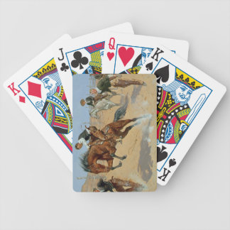 Turn Him Loose, Bill, c.1893 (oil on canvas) Bicycle Playing Cards