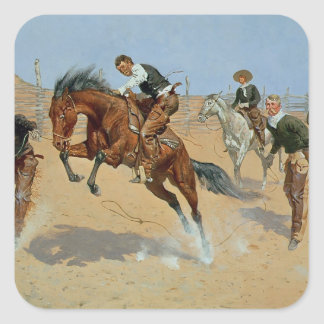 Turn Him Loose, Bill, c.1893 (oil on canvas) Square Sticker