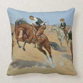 Turn Him Loose, Bill, c.1893 (oil on canvas) Throw Pillow
