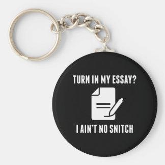 Turn In My Essay? Keychain