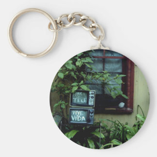 Turn in off the TV/Live your life Keychain