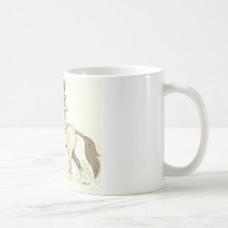 TURN IN THE WATER Eventing Horse Art Coffee Mug