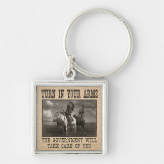 Turn In Your Arms Silver-Colored Square Keychain