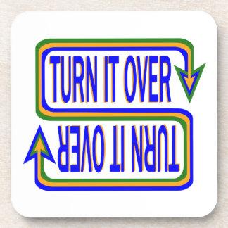 Turn it over beverage coasters