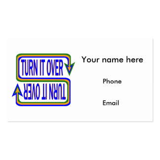 Turn it Over Business Card Template