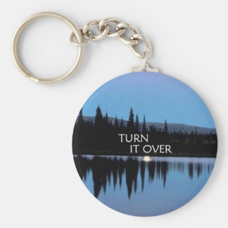 Turn It Over Keychain