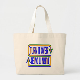 Turn it Over Large Tote Bag