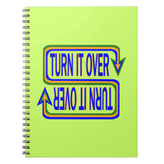 Turn it over spiral notebook