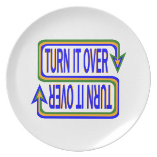 Turn it over plate
