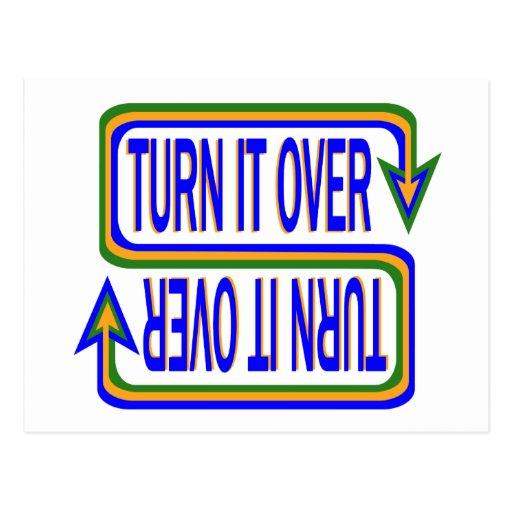 Turn it Over Postcard