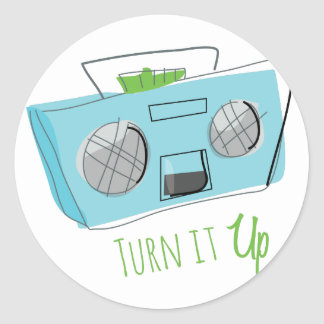 Turn It Up Classic Round Sticker