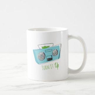 Turn It Up Classic White Coffee Mug