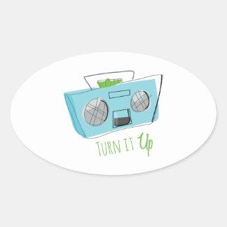 Turn It Up Oval Sticker