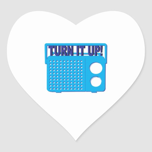 Turn it Up Heart Stickers