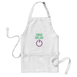 Turn me on funny adult apron