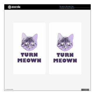 Turn Meown Decals For Kindle Fire